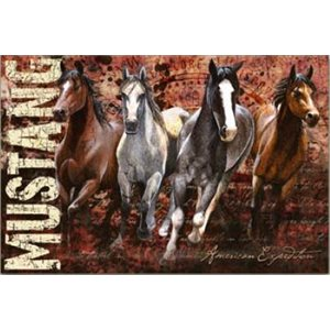 GRAPHIC CANVAS ART - MUSTANG