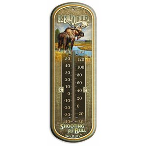 "17"" Tin Thermometer Big Bull Outfitters"