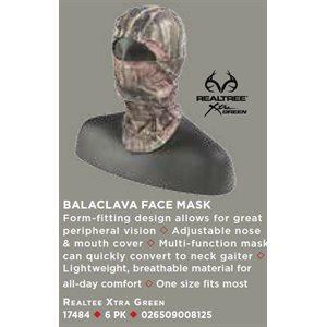 BALACLAVA FACE MASK, REALTREE XTRA GREEN