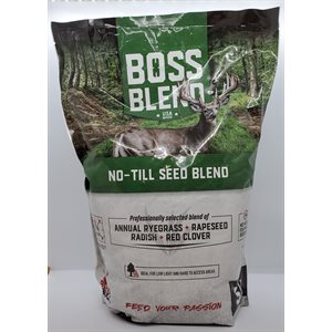 Boss Blend - NO-TILL Seed - 5lb bag - Covers 1 / 4 Acre / 11,0