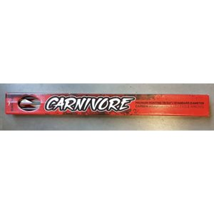 CARNIVORE FLETCHED ARROWS- .003'' 6 PACK- 350
