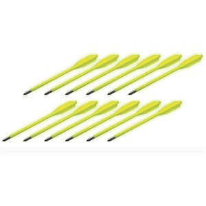 BOLT Crossbows® Glow in the Dark Plastic Bolts 12 Pa