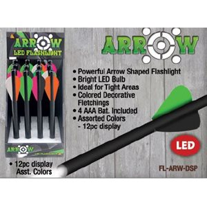1 Watt Arrow flashlight, 12 ct. dsp