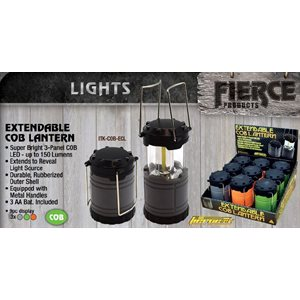 COB Extendable Lantern, 150 Lumens, 5 OD Green, 4 gray, 9 ct