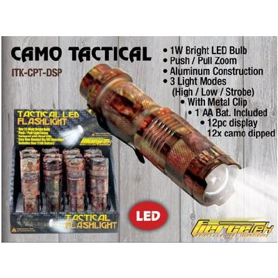 Push-Pull Tactical, Brown camo dipped, 1 Watt, 12 ct. dsp