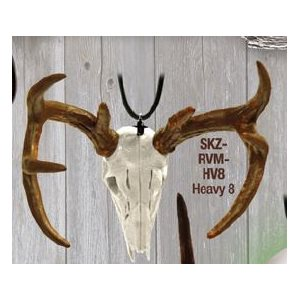 """Skullz"" mirror hanger, Heavy 8 pnt. Deer"