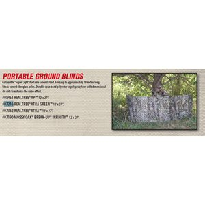 GROUND BLIND 27IN X 12FT XTRA GREEN