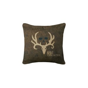 BONE COLLECTOR SQUARE DARK PILLOW
