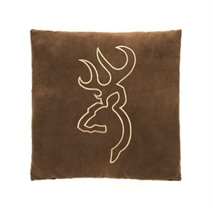 BROWNING BUCKMARK SUEDE BROWN PILLOW