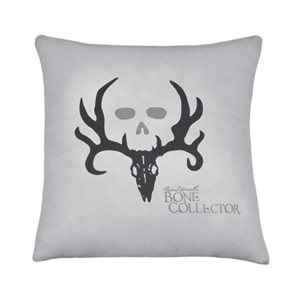 BONE COLLECTOR GRAY SQUARE PILLOW