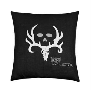 BONE COLLECTOR BLACK SQUARE PILLOW