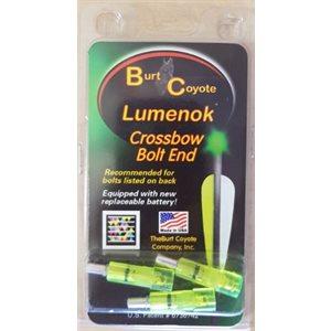 Gold Tip Bolt End Flat Green -- 3-pack