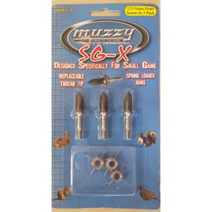 SG-X 125 Small Game Head 3 Pack