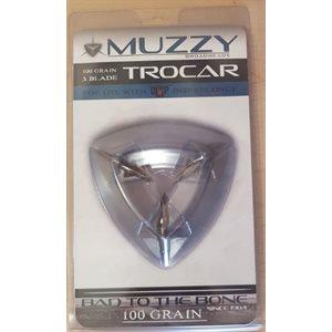 Muzzy Trocar Deep Six 100 Grain 3 Blade with Offset Blade D