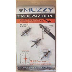 """""""Trocar HBX- Crossbow Hybrid Broadhead 1"""""""" x 1 5 / 8"""""""" Cut 4"""