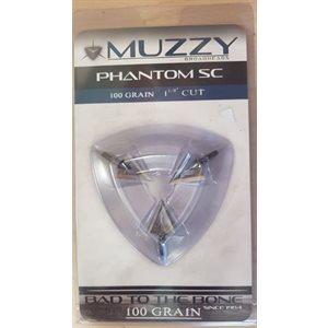 """Phantom SC 100 Grain .050"""" Blades 1 1 / 8"""" Cut (3 pack)"""