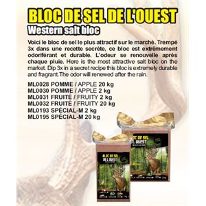 BLOC SEL DE L' OUEST POMME 20 KG1PACK