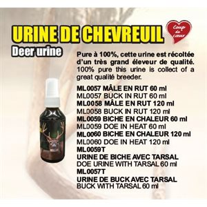 BUCK DEER URINE WITH TARSAL 60 ML