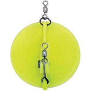 "0 Dipsy Diver 3-1 / 4"" Chartreuse / White Bottom"