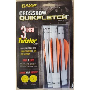 """QUIKFLETCH 3"""" TWISTER FOR CROSSBOW - W / O / O (3 PACK)"""