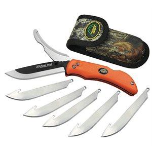"""3.5"""" RAZOR-PRO (Orange, 6-Blades) – Clam"""