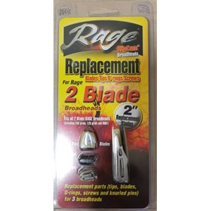 2 blade Replacement packs (100gr Standard) O-Ring Models Onl