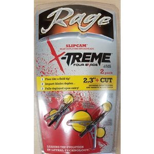 """Rage EXTREME 4 Blade 2.3"""" ** 2-pack** """