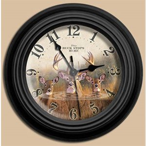 "10"" dia. Wall Clocks THE BUCK STOPS HERE"