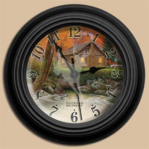 "10"" dia. Wall Clocks WEEKEND RETREAT"