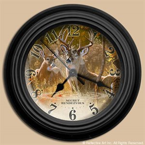 "10"" dia. Wall Clocks SECRET RENDEZVOUS"