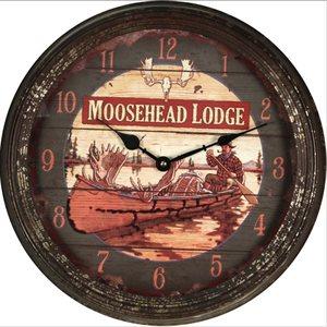 Clock 15-inch - Moosehead (Rusted)