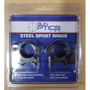 """ Medium Steel Sport Rings / QR / Recoil Key"