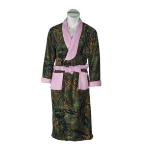 CORAL FLEECE WRAP ROBE ROSE