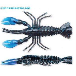 "CRAWDADZ 4"" WATERMELON / HOT CHARTREUSE CLAWS 6 PACK"