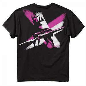 CROSS AND GUN WOMENS BLACK *