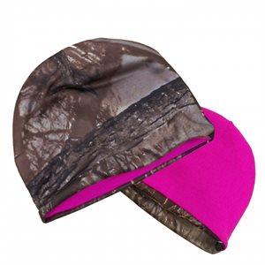 Muddy Water Camo Reversible Beanie, Pink / Camo
